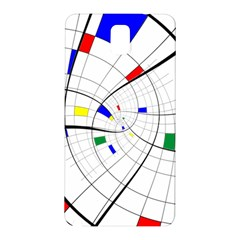 Swirl Grid With Colors Red Blue Green Yellow Spiral Samsung Galaxy Note 3 N9005 Hardshell Back Case by designworld65