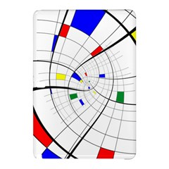 Swirl Grid With Colors Red Blue Green Yellow Spiral Samsung Galaxy Tab Pro 12 2 Hardshell Case by designworld65