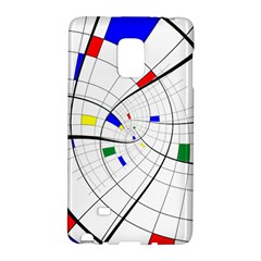 Swirl Grid With Colors Red Blue Green Yellow Spiral Galaxy Note Edge by designworld65