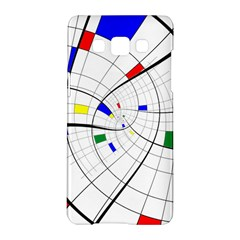 Swirl Grid With Colors Red Blue Green Yellow Spiral Samsung Galaxy A5 Hardshell Case  by designworld65