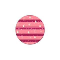 Pink Xmas Golf Ball Marker by Valentinaart