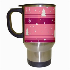 Pink Xmas Travel Mugs (white) by Valentinaart