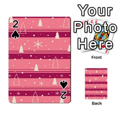 Pink Xmas Playing Cards 54 Designs