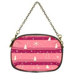 Pink Xmas Chain Purses (one Side)  by Valentinaart