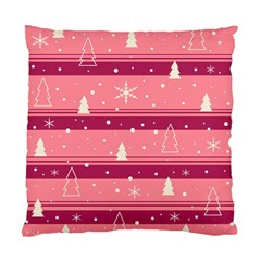 Pink Xmas Standard Cushion Case (two Sides) by Valentinaart