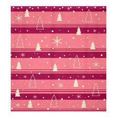 Pink Xmas Shower Curtain 66  X 72  (large)  by Valentinaart