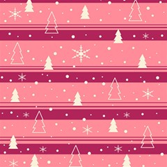 Pink Xmas Magic Photo Cubes by Valentinaart