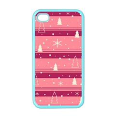 Pink Xmas Apple Iphone 4 Case (color) by Valentinaart