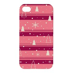 Pink Xmas Apple Iphone 4/4s Premium Hardshell Case