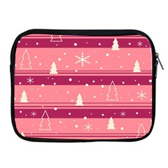 Pink Xmas Apple Ipad 2/3/4 Zipper Cases by Valentinaart