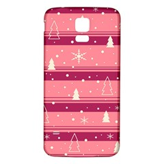 Pink Xmas Samsung Galaxy S5 Back Case (white) by Valentinaart