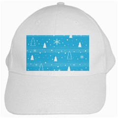 Blue Xmas White Cap by Valentinaart