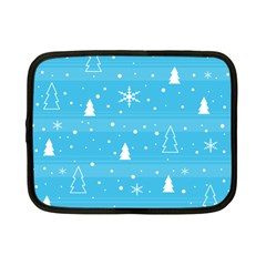 Blue Xmas Netbook Case (small)  by Valentinaart