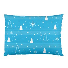 Blue Xmas Pillow Case by Valentinaart