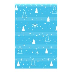Blue Xmas Shower Curtain 48  X 72  (small)  by Valentinaart