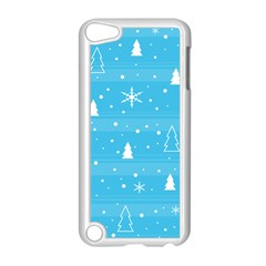 Blue Xmas Apple Ipod Touch 5 Case (white) by Valentinaart