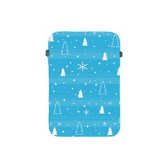 Blue Xmas Apple Ipad Mini Protective Soft Cases by Valentinaart