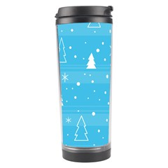 Blue Xmas Travel Tumbler by Valentinaart