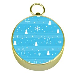Blue Xmas Gold Compasses by Valentinaart