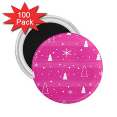 Magenta Xmas 2 25  Magnets (100 Pack)  by Valentinaart