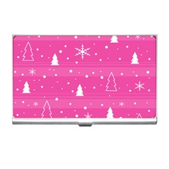 Magenta Xmas Business Card Holders by Valentinaart