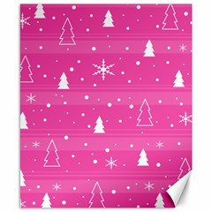 Magenta Xmas Canvas 8  X 10  by Valentinaart