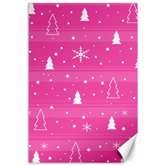 Magenta Xmas Canvas 12  X 18   by Valentinaart
