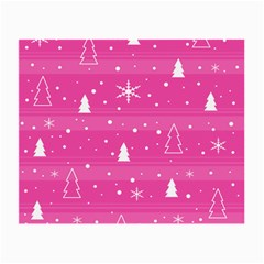 Magenta Xmas Small Glasses Cloth (2 Side) by Valentinaart