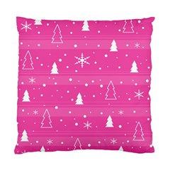 Magenta Xmas Standard Cushion Case (one Side) by Valentinaart