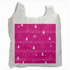 Magenta Xmas Recycle Bag (one Side) by Valentinaart