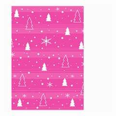 Magenta Xmas Small Garden Flag (two Sides) by Valentinaart