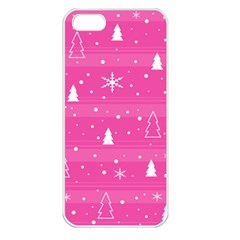Magenta Xmas Apple Iphone 5 Seamless Case (white)