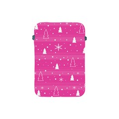 Magenta Xmas Apple Ipad Mini Protective Soft Cases by Valentinaart