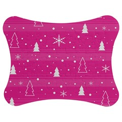 Magenta Xmas Jigsaw Puzzle Photo Stand (bow) by Valentinaart