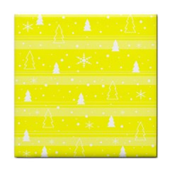 Yellow Xmas Tile Coasters by Valentinaart