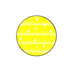 Yellow Xmas Hat Clip Ball Marker (4 Pack) by Valentinaart