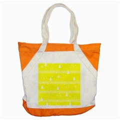 Yellow Xmas Accent Tote Bag by Valentinaart