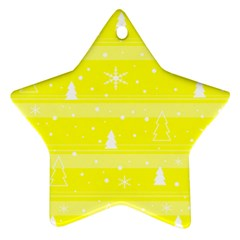Yellow Xmas Star Ornament (two Sides)  by Valentinaart