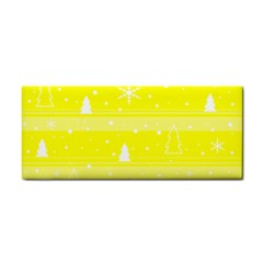 Yellow Xmas Hand Towel by Valentinaart