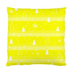 Yellow Xmas Standard Cushion Case (one Side) by Valentinaart