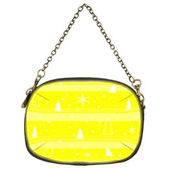 Yellow Xmas Chain Purses (two Sides)  by Valentinaart