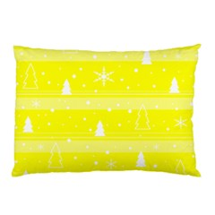 Yellow Xmas Pillow Case by Valentinaart