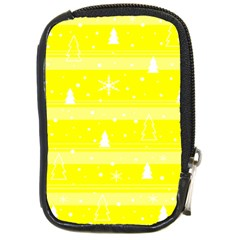Yellow Xmas Compact Camera Cases by Valentinaart