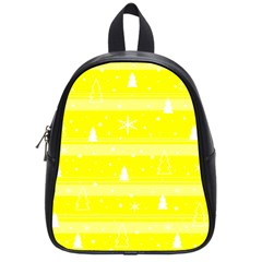 Yellow Xmas School Bags (small)  by Valentinaart
