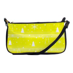 Yellow Xmas Shoulder Clutch Bags by Valentinaart
