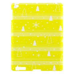 Yellow Xmas Apple Ipad 3/4 Hardshell Case by Valentinaart