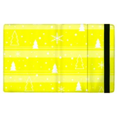 Yellow Xmas Apple Ipad 3/4 Flip Case by Valentinaart