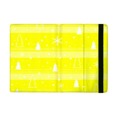 Yellow Xmas Apple Ipad Mini Flip Case by Valentinaart