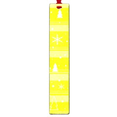 Yellow Xmas Large Book Marks by Valentinaart