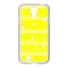 Yellow Xmas Samsung Galaxy S4 I9500/ I9505 Case (white) by Valentinaart